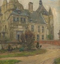 vue du château de laerne by albert baertsoen