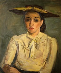portrait of a woman by leo kahn