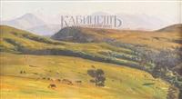 пейзаж с большим кавказским хребтом by nikolai nikanorovich dubovskoy