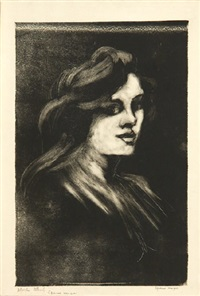 head of a woman by adolphe albert