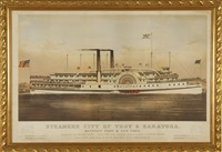 steamers cicty of troy and saratoga, between troy and new york by endicott & co. (printers)