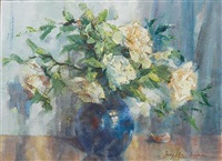 still life of flowers by jenny liber argyrou