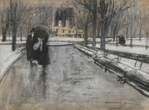 park scene by everett shinn