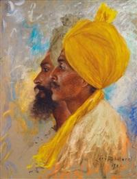 deux sikhs by lucien lévy-dhurmer