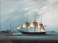 a clipper ship off the south china coast, thought to be the