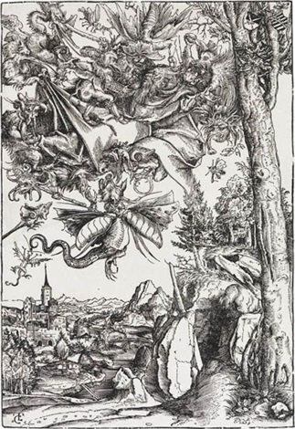 the temptation of st. anthony by lucas cranach the elder