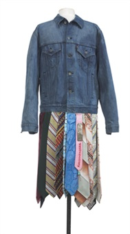 untitled (customized levi's denuim jacket) by robert rauschenberg