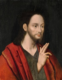 christ blessing by flemish school (16)