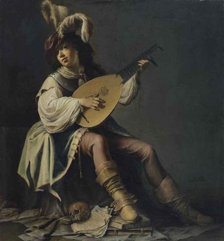 joueur de luth by willem bartsius