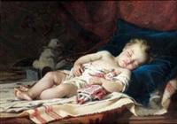 l'enfant endormi by guillaume romain fouace
