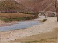 paysage à la rivière by ernest joseph laurent