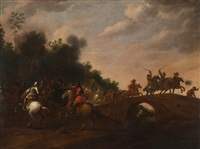 choc de cavalerie by peter (petrus) snyers