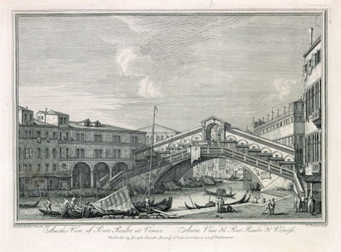 another view of ponte rialto at venice after canaletto by henry fletcher