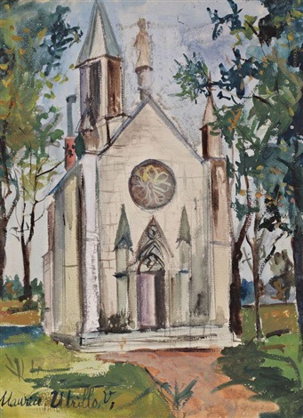 eglise provençale by maurice utrillo