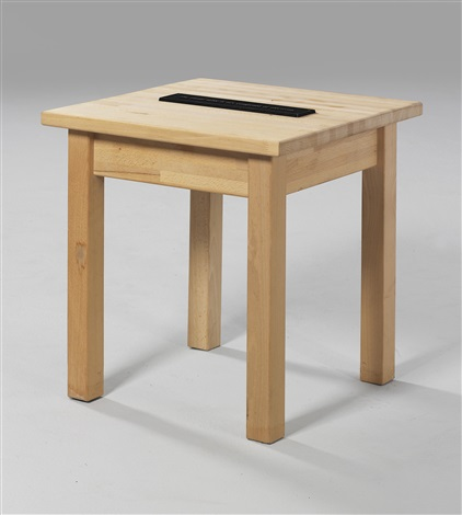 a nominated object stool by joseph kosuth