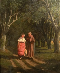 a walk with grandmother by william de la montagne cary