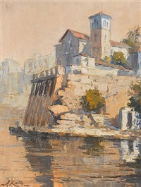 view of kastella, piraeus by antonis kanas