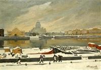 first snow by anna petrovna ostroumova-lebedeva
