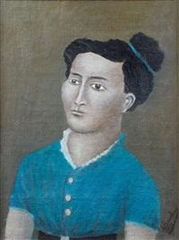 portrait de femme by andré bauchant