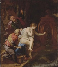 susannah and the elders by johann spillenberger