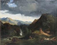 paysage à l'aqueduc by jean charles joseph remond