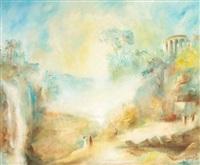 conversation sous les ruines, temple de la sibille by leopold m. baijot