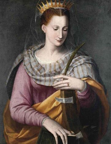 santa caterina by alessandro di cristofano allori