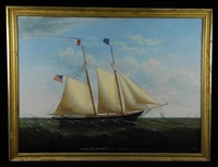 the schooner william mason, capt. a.t. staples by edward everard arnold