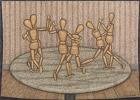 three couples dancing by john brack