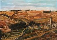 jerusalem landscape by ludwig blum