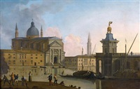 la punta della dogana face à l'eglise du redentore à venise by william marlow