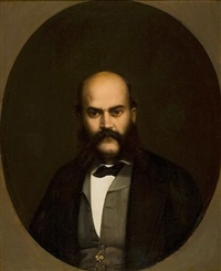 portrait of a noble man by georgios varouchas