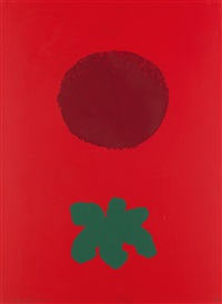 red ground by adolph gottlieb