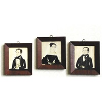 family portraits (set of 3) by jane anthony davis