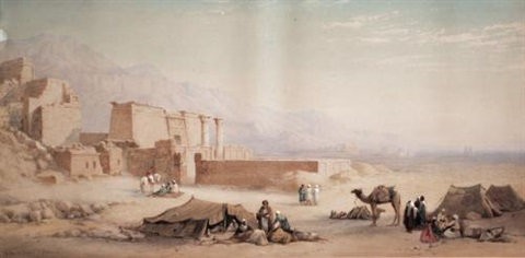 medinet habu and the plain of thebes by charles vacher