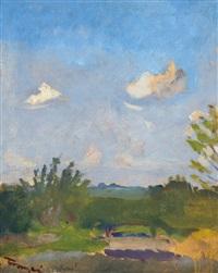 sunny view, on the reverse: bright sunshine by jános tornyai