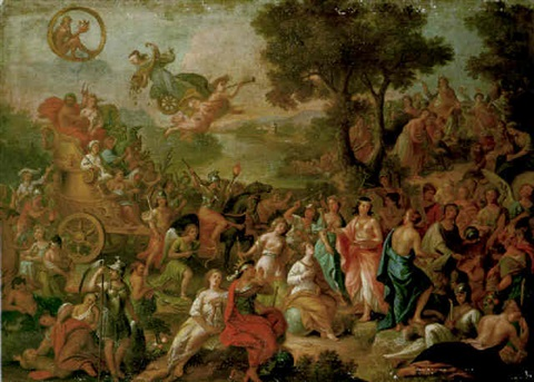 the gods presiding over the liberal arts on mount olympus by girolamo pesci