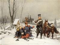 aus dem deutsch-französischen krieg (2 works) by christian sell the elder