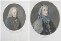 fénelon (+ voltaire, after vivien et garnerey; 2 works from la galerie des auteurs dramatiques) by pierre-michel alix