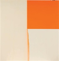 exposed painting, cadmium orange by callum innes