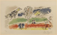 le fleuve vert by marc chagall