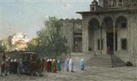 before the mosque by alberto pasini