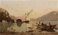bord du lac à rivaz by francois-louis-david bocion