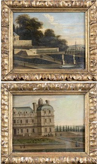 le château de chilly, du côté du jardin (+ le parterre; pair) by adam perelle
