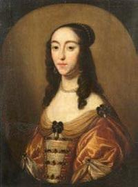 portrait de jeune femme aux perles dans un ovale by gerrit van honthorst