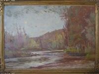bord de rivière by émile bernard