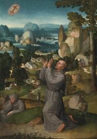 the stigmatization of saint francis by adriaen isenbrant
