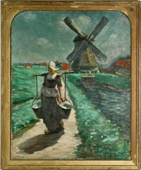 a volendam milk-maid by augustus koopman