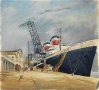 """passagierdampfer """"united states"""" in bremerhaven by willy haunschild"""