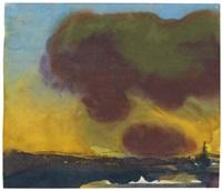 schiff mit dunkler wolke by emil nolde